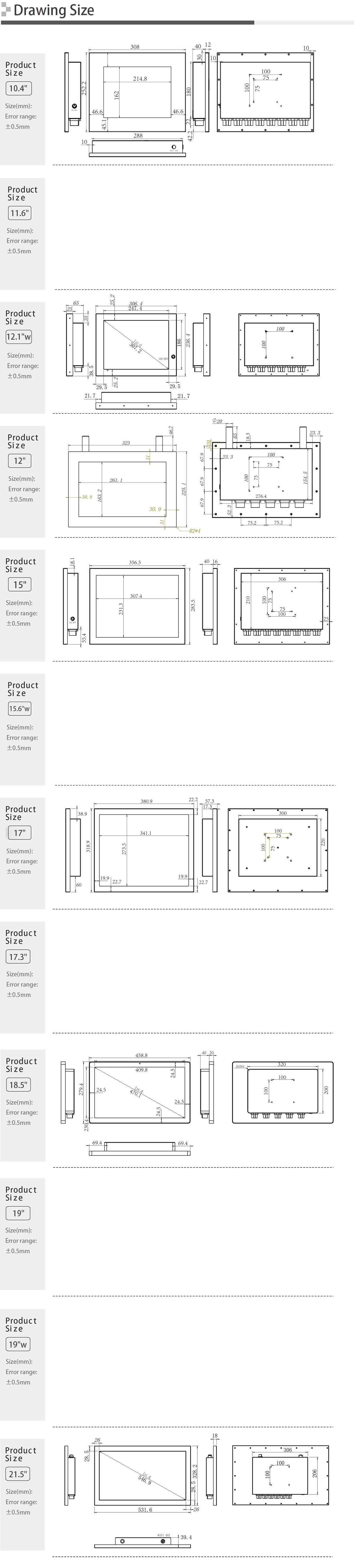 Full IP65 Stainless Steel Touch Panel PC SC100SW