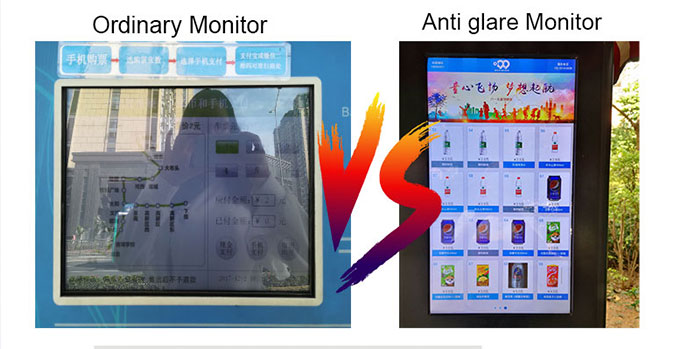 high brightness 7 inch touch monitor for EV kiosk