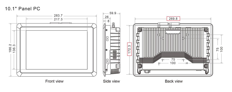 SC700M Embedded vehicle 4G Panel PC 12V TO 36V