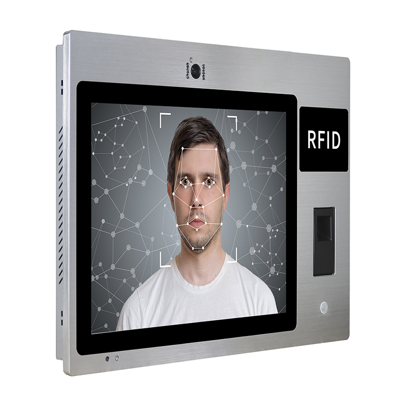 15 inch 200W webcam Android 8.0 touch screen computer with fingerprint recognition