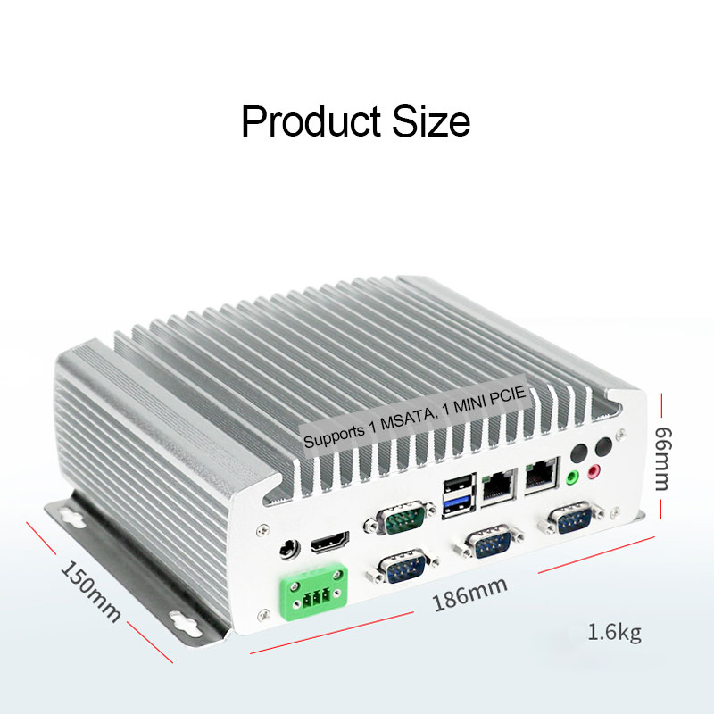 fanless embedded computer with 6 x COM