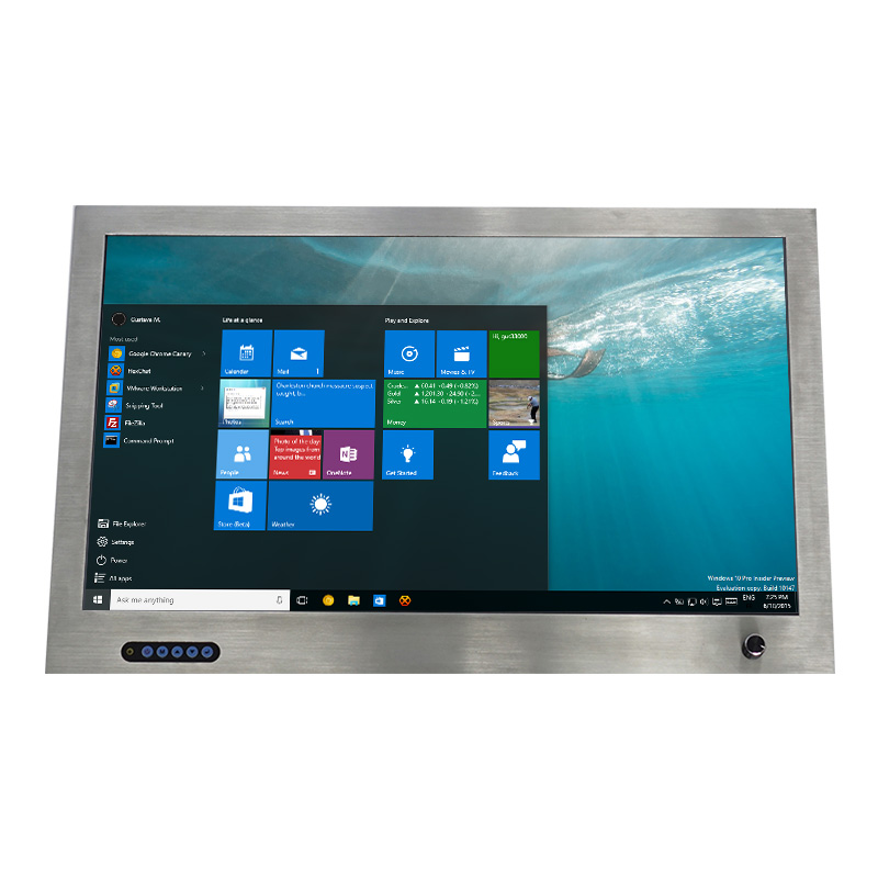 24 inch wall mount stainless steel lcd displays with dimmer