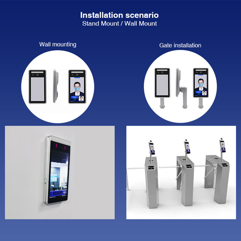 Thermal Scanner Face Recognition Temperature Measure System