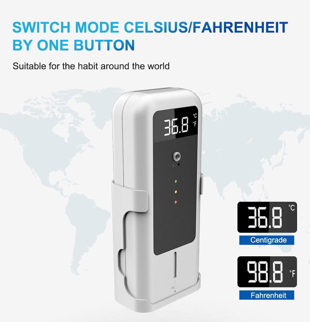 Automatic Sensor Temperature Measurement with hand sanitizer dispenser 300ml
