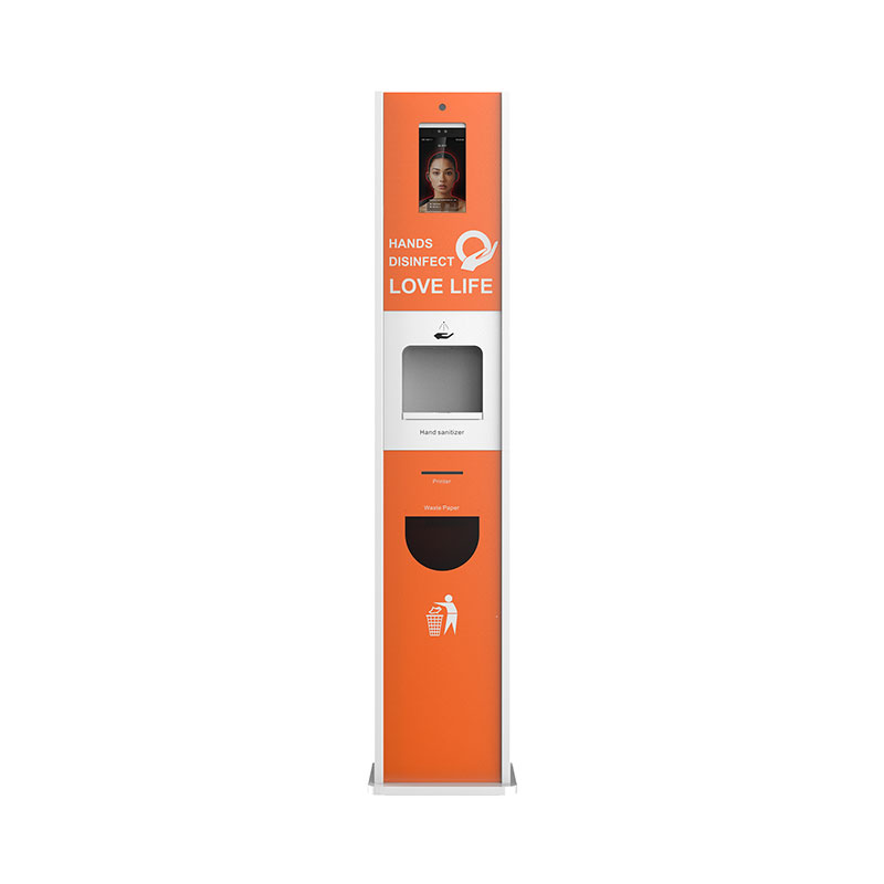 Hand Sanitizer Dispenser Temperature Scanning Kiosk
