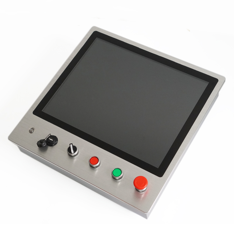 Embedded Automatic Control Panel PC with Emergency Button