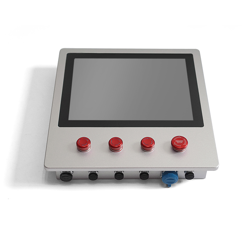 12 inch full IP65 waterproof Industrial control Monitor with 4 Buttons