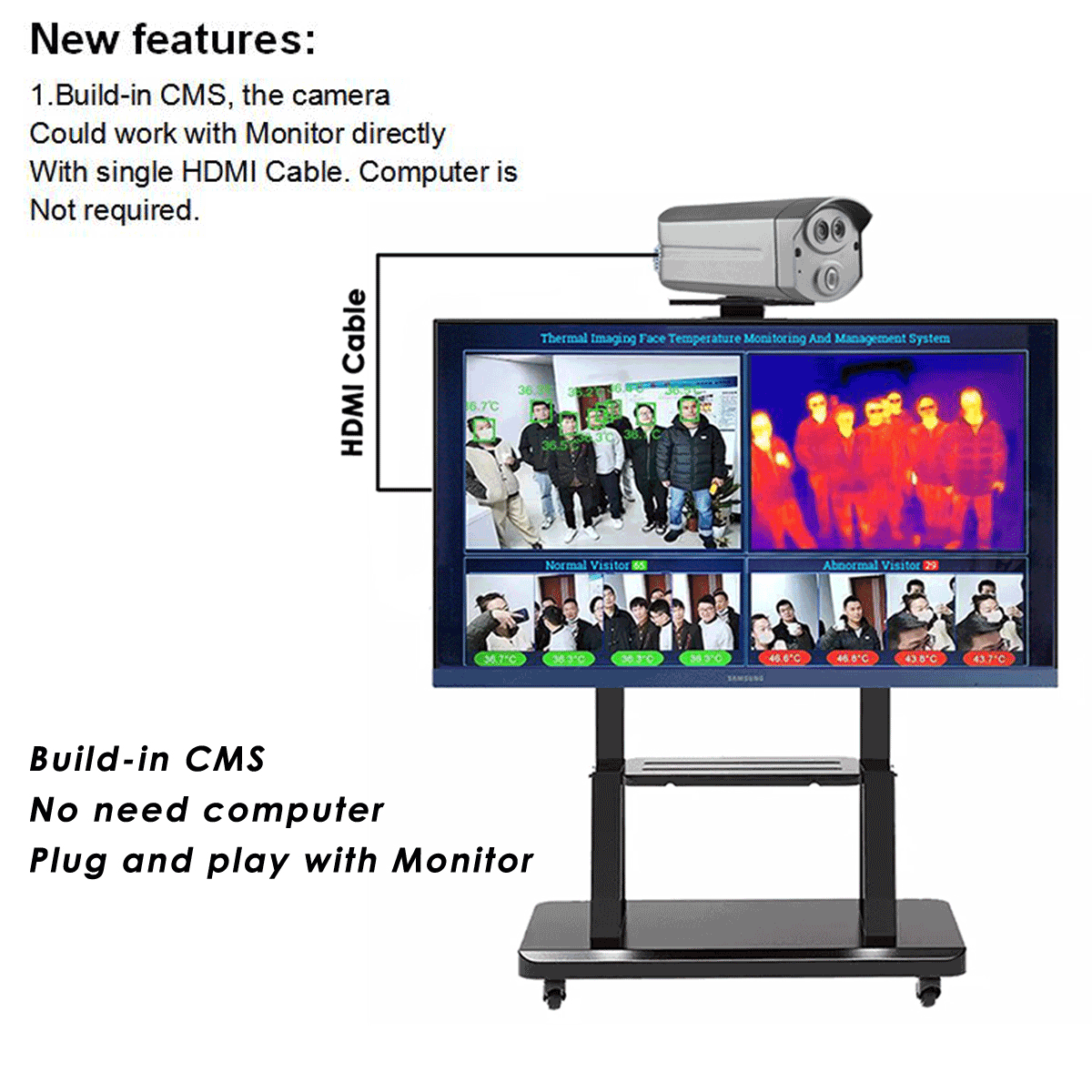 Built in CMS 16G Thermal imaging Camera HDMI output