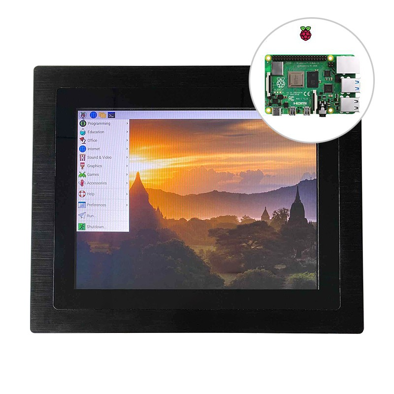 Built in a raspberry pi 4b embedded touch monitor 1000 nits