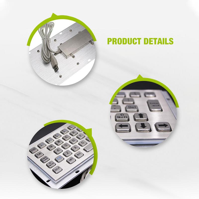 Waterproof IP65 industrial computer keyboard